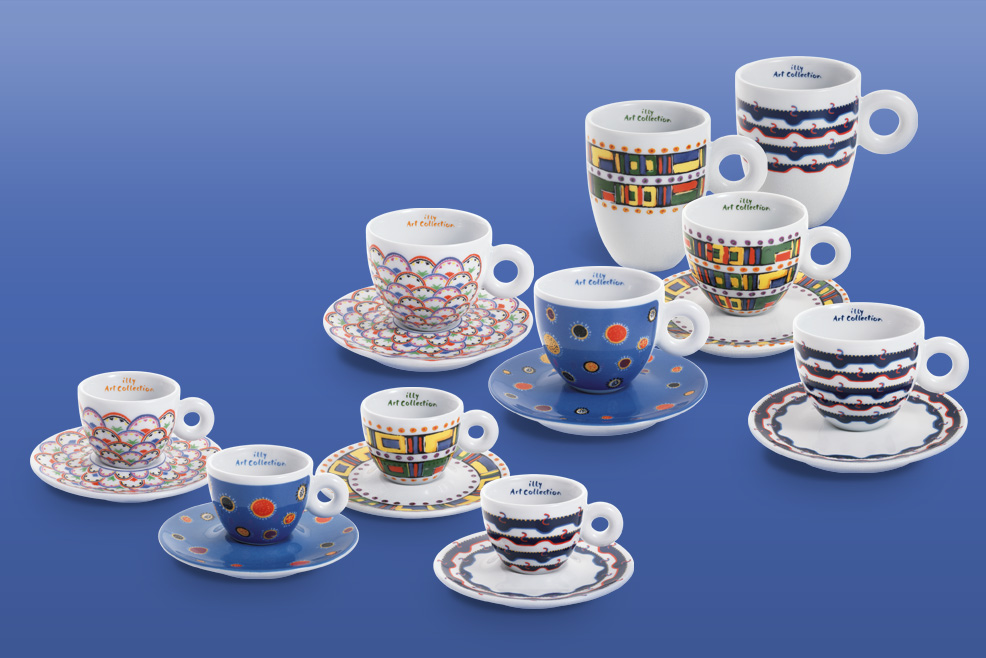 Illy art collection tazzine gillo dorfles for Gillo critico d arte